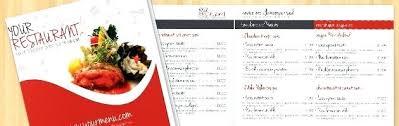 Restaurant Menu Template Microsoft Word Free Voipersracing Co