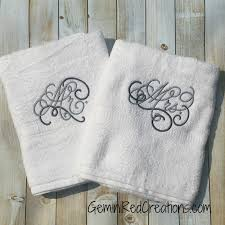 custom bath towel sets his hers