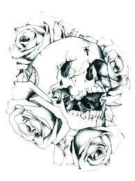 Coloring Pages Of Sugar Skulls Skulls And Roses Coloring Pages Skull