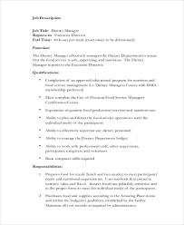 dietary manager job description sample dietary aide job description 9 examples in pdf