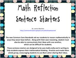 math reflection sentence starters bie math reflection sentence starters middot screen shot 2012 10 07 at 3 43