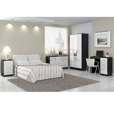 black bed with white furniture. White Or Black Bedroom Furniture Photo - 1 Bed With S