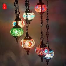 turkish pendant lamps uk light handmade mosaic stained glass corridor stairwell cafe restaurant hanging lamp full