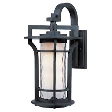 maxim lighting oakville ee 1 light black oxide outdoor wall sconce 85784wgbo the home depot