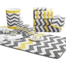 Decorative Bathroom Towels Sets Mainstays Chevron Decorative Bath Towel Collection Walmart Chevron