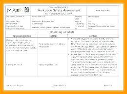 Job Hazard Analysis Checklist Template