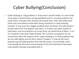 conclusion on cyber bullying essays the introduction to cyber bullying media essay uk essays