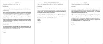Physician Assistant Cover Letter And Thank You Follow Up Templates