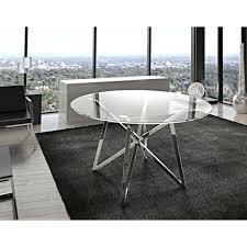 Runder Esstisch Glas Metall Tisch Rund Verchromt Glastisch Rund