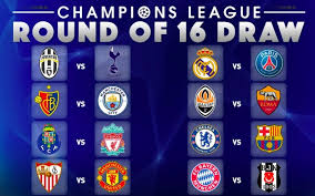 uefa champions league 2017 18 round of 16 schedule confirmed in table inspirations