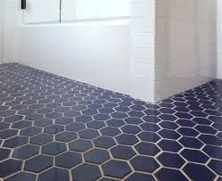 Blue Hexagon Floor Tile Tile Navy Blue Hex Tile Home Interior Design