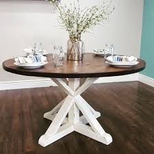 stunning handmade rustic round farmhouse table by modernrefinement diy round farmhouse table farmhouse table and rounding