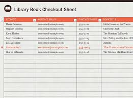 Check Out Sheet Library Sign Out Sheet Template