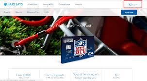 nfl visa credit card login