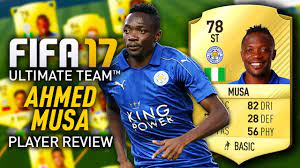 FIFA 17 AHMED MUSA (78) *PACEY* PLAYER REVIEW! FIFA 17 ULTIMATE TEAM! -  YouTube