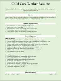 Child Care Worker Resume Template Child Care Worker Description Resume Amazing Resume Examples For 1