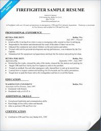 Firefighter Resume Template Amazing Firefighter Resume Examples Igniteresumes