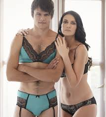 Man in womens lingerie picture