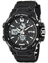 buy sports watches for men women children online in skmei analog digital black dial men s watch 990blk