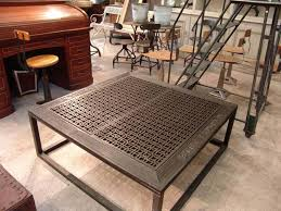 metal coffee table. Brushed Metal Coffee Table