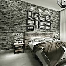 Brick Wallpaper Bedroom Stereo Imitation Brick Wallpaper Modern Vintage Non  Woven Stone Wall Paper Bedroom Restaurant