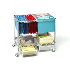 rolling office cart. Rolling Office Cart 3 Tier Mobile Letter Legal File Utility With 2 Steel Wire S
