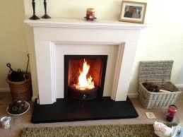 antique coal fireplace insert stoker victorian electric fire limestone slate hearth
