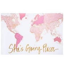 she s going places canvas wall decor