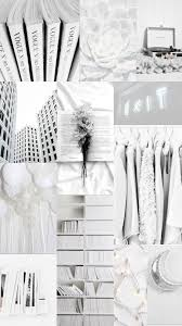 White Aesthetic Collage Wallpapers ...