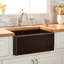 20 reinhard fireclay farmhouse sink black