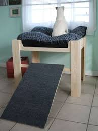 Wood Raised Dog Bed Furniture Put Your Pet Next to by LoveOfBeach