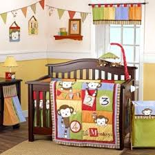 monkey crib bedding grow w baby 6 piece four monkeys crib bedding set new sock monkey monkey crib bedding