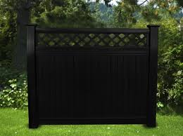 BLACK VINYL PRIVACY LATTICE TOP FENCE 6 FT X 6 FT Fence Material