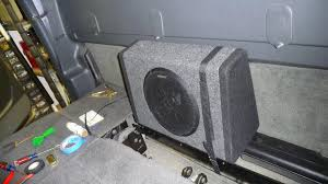 diy 10inch kicker bass station sub amp install chevy and gmc fyi the reason it will not fit on the other side s because the hvac vent would not allow it ti sit flush