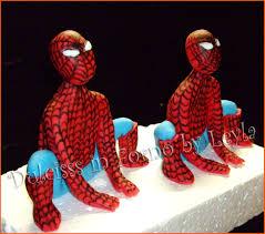 Torta spiderman 3d decorata in pasta di zucchero birthday cakes