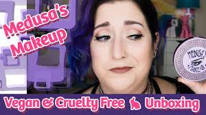 medusa s makeup unboxing vegan free subscription
