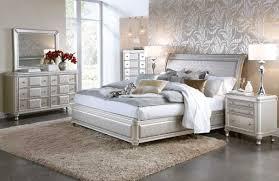 picture of hefner silver 5 pc queen bedroom group