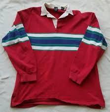 vintage gap color block striped rugby shirt men s xl 90 s