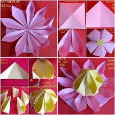 How To Make A Lotus Flower Out Of Paper How To Make Lovely Paper Origami Lotus Diy Tutorials