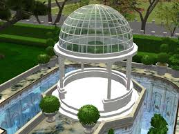 sims 4 gazebo. these luxurious glass domed gazebos are great for placing in your magnificant gardens outside of palatial mansions it looks with its snow white sims 4 gazebo r
