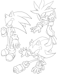 Sonic Coloring Pages Shadow Sonic And