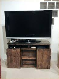 crate tv stand wooden wood milk