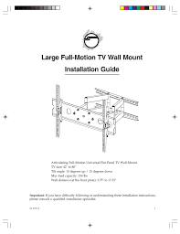 Siig Ce Mt1f12 S1 Flat Panel Wall Mount Manualzz Com