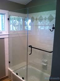 smashing custom glass door frameless shower custom details door panel tub notched glass sd