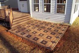 how to lay tile over concrete outdoor