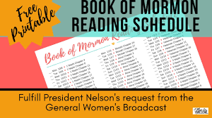 Free Printable Book Of Mormon Reading Schedule Updated Dec