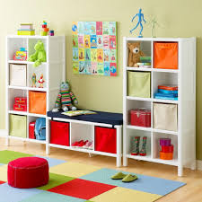 colorful furniture. Brilliant White Painted Kids Storage Furniture With Colorful Bags For Storing Stuff In Modern Bedroom Wooden Flooring D