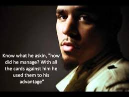 J Cole Lyric Quotes Awesome J Cole Sideline Story Lyrics YouTube