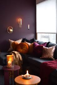 Burnt Orange Living Room Design Cosy Plum Burnt Orange And Gold Living Room In 2020 Burnt