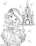 Раскраски маленькие принцессы